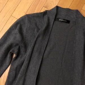 89th & Madison Grey Wrap Style Sweater